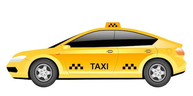Taxi-karikaturillustration