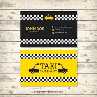 Taxi-karte vorlage im modernen stil