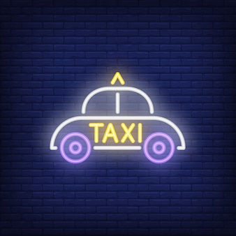 Taxi leuchtreklame