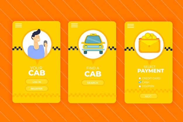 Taxi mobile app interface service