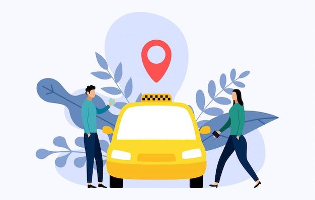 Taxi mobile stadttransportunternehmen
