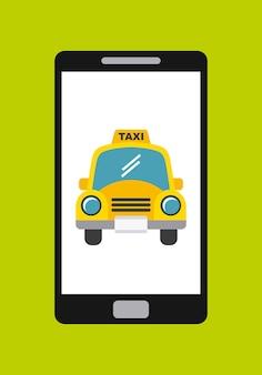 Taxi Service App Smartphone