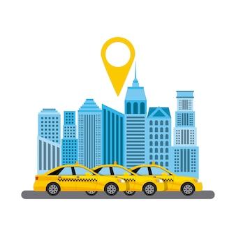 Taxi-service öffentlicher verkehr