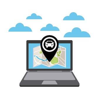 Taxi-service öpnv-app-technologie