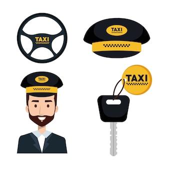 Taxi-service-set fahrerschlüssel internet