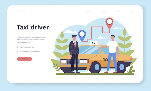 Taxi service web banner oder landing page