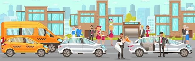 Taxi und fahrerservice bei hochzeit