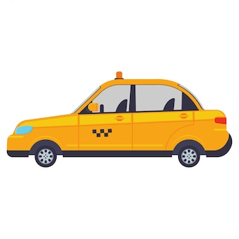 Taxi vektor cartoon illustration isoliert.