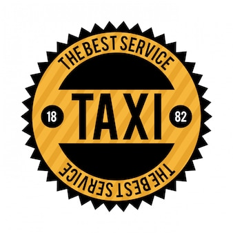 Taxidesign über weißer backgroundvector abbildung