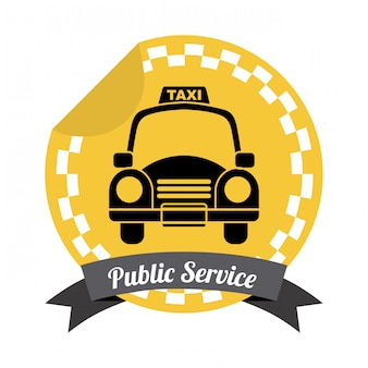 Taxidesign über weißer hintergrundvektorillustration
