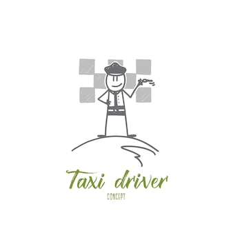 Taxifahrer-konzeptillustration
