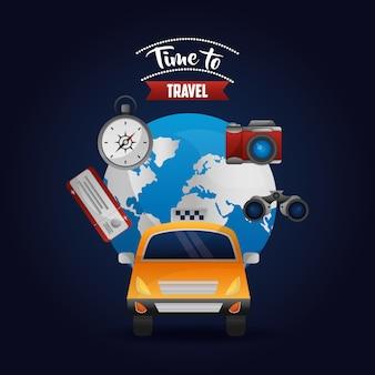 Taxitransport um die welt