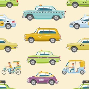 Taxitransport und gelbes autotransportset