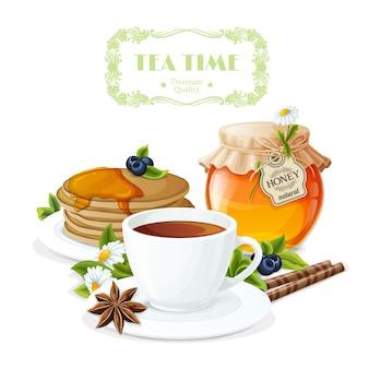Tea time hintergrund-design