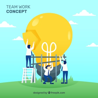 Team arbeit geschäftskonzept vektor