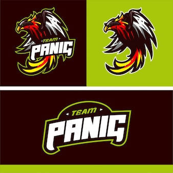 Team phonix maskottchen logo vektor vorlage