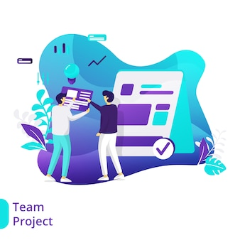 Team-projekt-illustration
