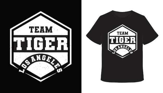 Team tiger los angeles typografie t-shirt design