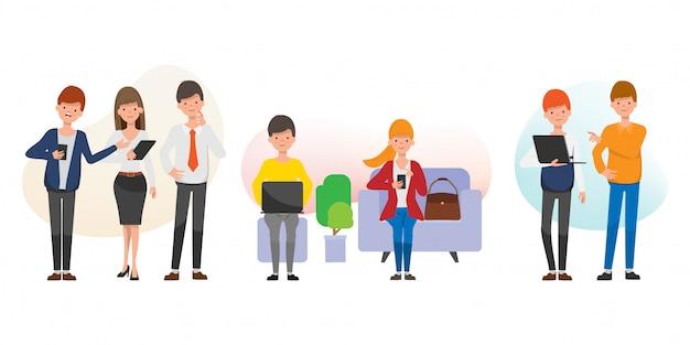 Teamarbeit für soziales netzwerk und geschäftsleute.