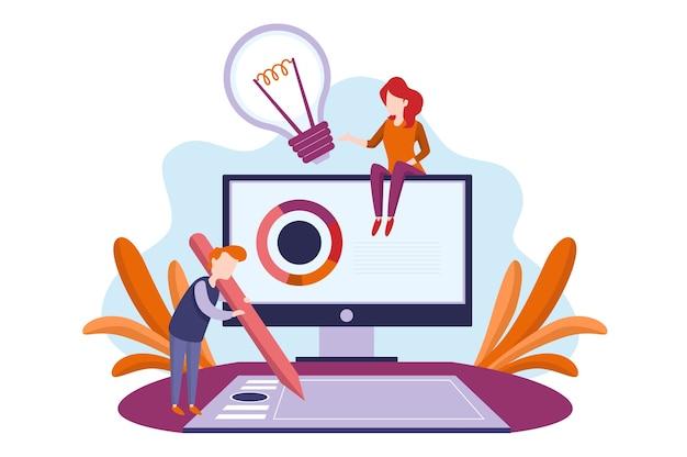 Teamarbeit illustration