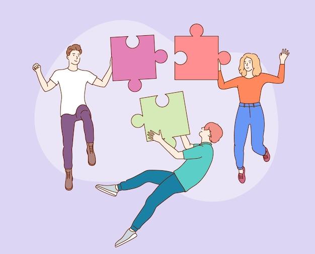 Teamarbeit, teambuilding, unternehmensorganisation.