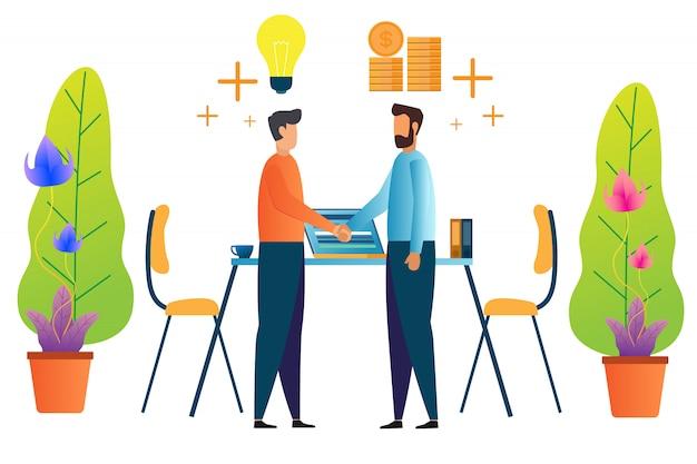 Teamarbeit und partnerschaft
