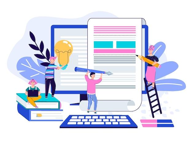 Teamarbeit zur artikelillustration