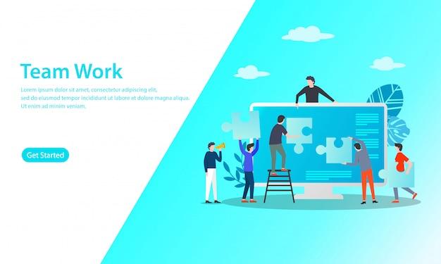Teamarbeitsvektor-illustrationskonzept