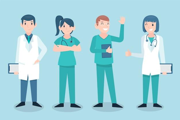 Teamstil des medizinischen fachpersonals