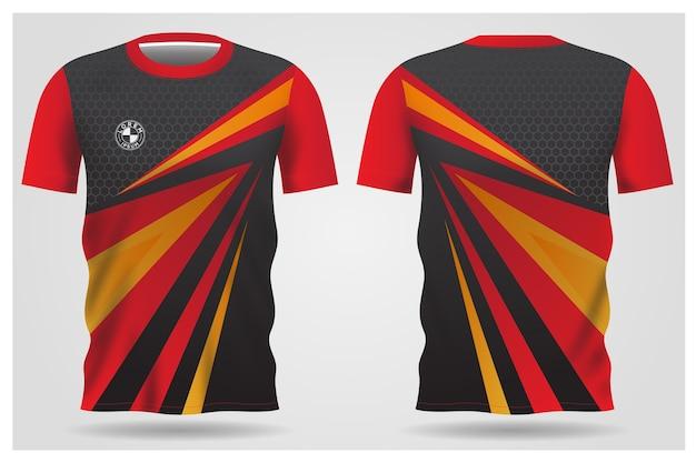 Teamuniformen und fußball-t-shirt design