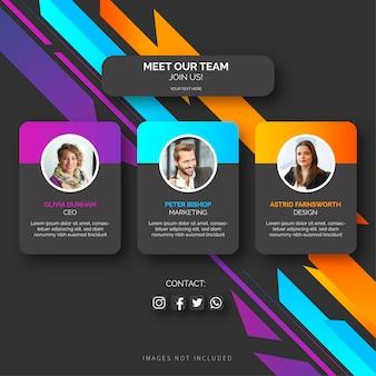 Teamvorlage mit abstrakten formen