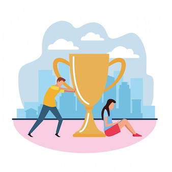 Teamwork award-pokal