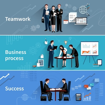 Teamwork banner festgelegt