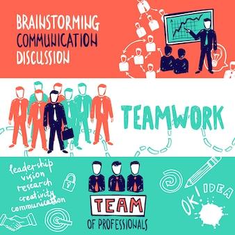 Teamwork banner skizze