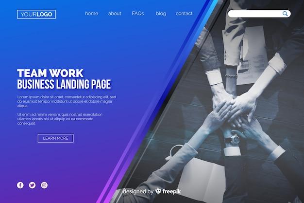 Teamwork business landing page