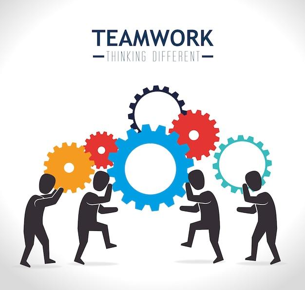 Teamwork design, vektor-illustration.