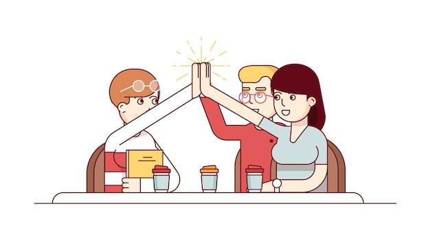 Teamwork erfolg und leistung
