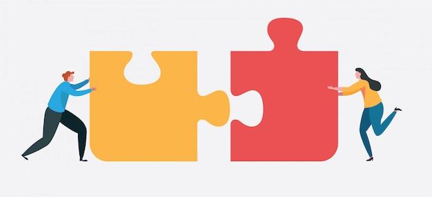 Teamwork erfolgreich zusammen konzept.