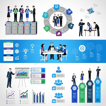 Teamwork-infografik-set