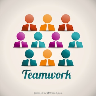 Teamwork-konzept illustration vektor