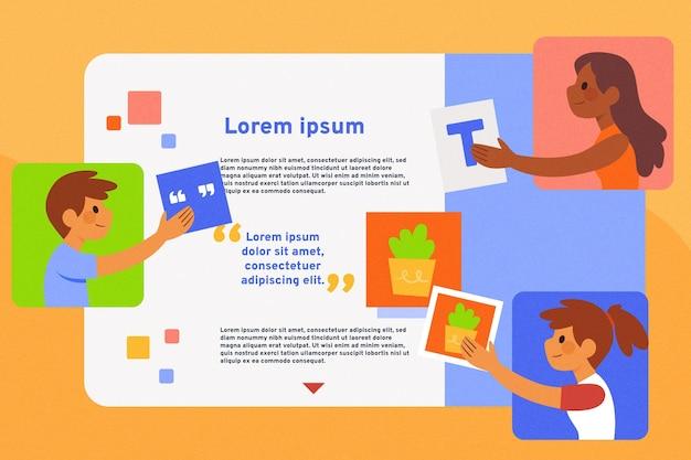 Teamwork-konzept mit illustrationen