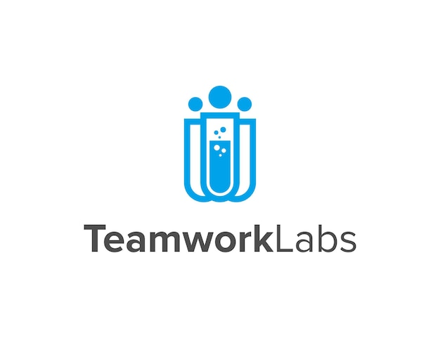 Teamwork labs einfaches schlankes kreatives geometrisches modernes logo-design