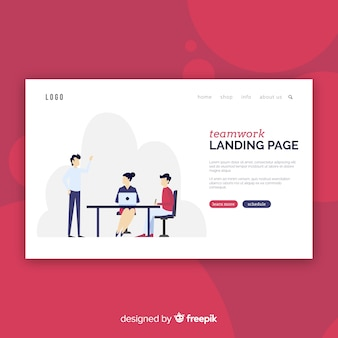 Teamwork-landing-page-vorlage