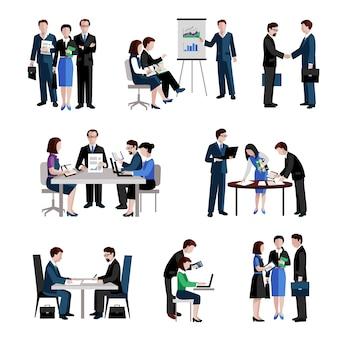 Teamwork-symbole festgelegt