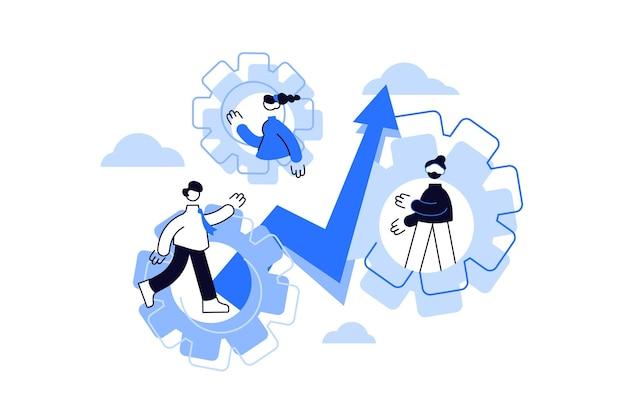 Teamwork, teambuilding und effektiver workflow