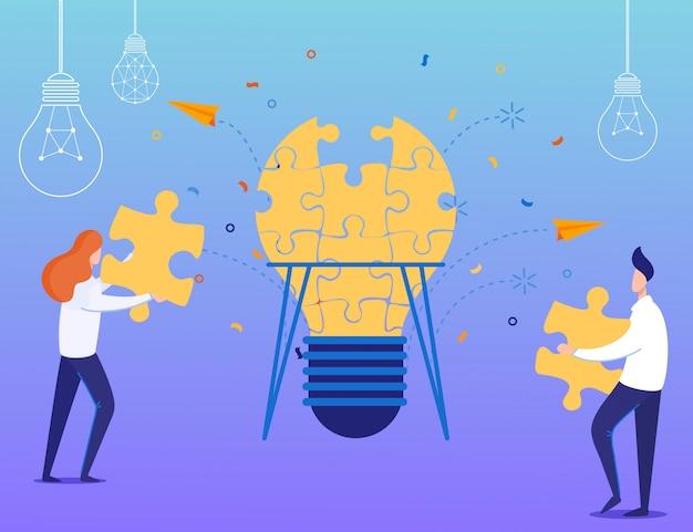 Teamwork und finden der geschäftslösung