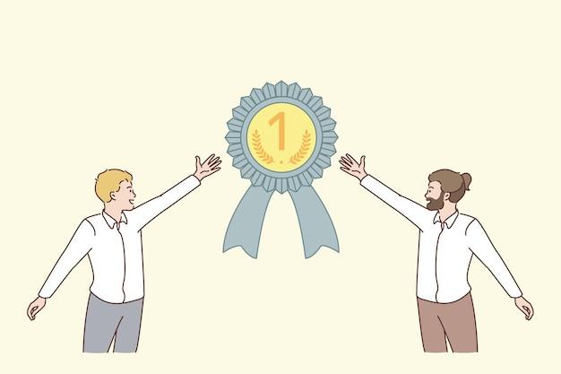 Teamwork und geschäftserfolgskonzept