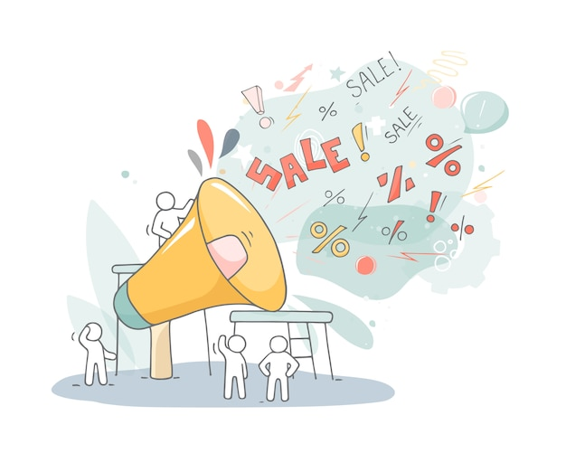 Teamwork und großer lautsprecher