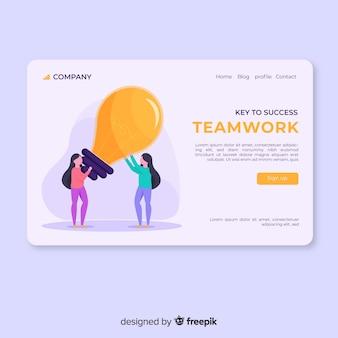 Teamwork-zielseite