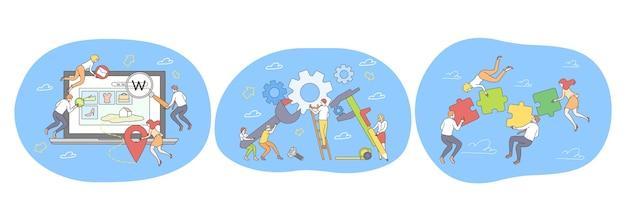 Teamwork zusammenarbeit zusammenarbeit erfolgreiche projektrealisierung